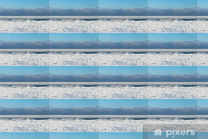 Papier peint vinyle sur mesure Mer Baltique gelée. - Saisons