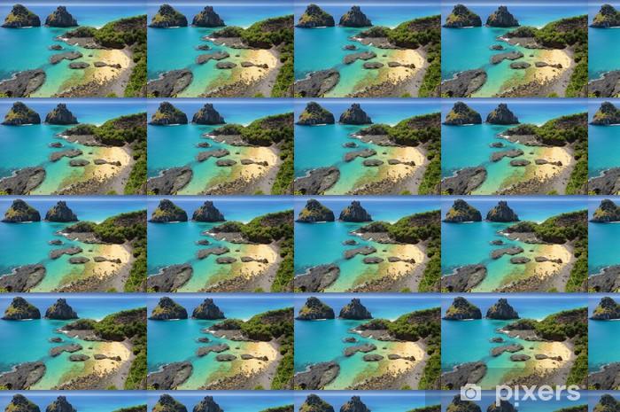 Vinyltapete nach Maß Tropischer Strand mit einem Korallenriff - Korallenriffe