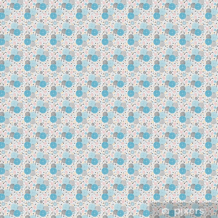 Seamless floral pattern Vinyl custom-made wallpaper - Backgrounds