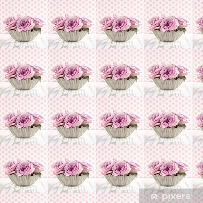 Papier peint vinyle sur mesure Bouquet de roses roses. - Fleurs