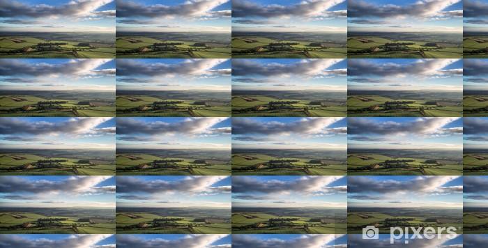 Tapeta na wymiar winylowa Oszałamiająca panorama na jesieni rano krajobraz wsi - Krajobraz wiejski