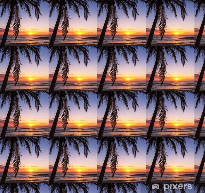 Spesialtilpasset vinyltapet Tropisk strand - Ferie og Høytid