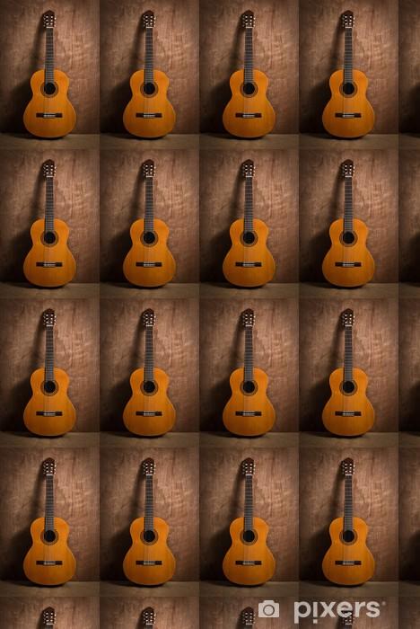 Classical Guitar Wallpaper Vinyl Custom Made