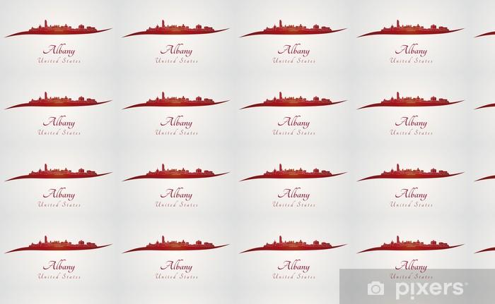 Papier peint vinyle sur mesure Albany horizon en rouge - Amérique