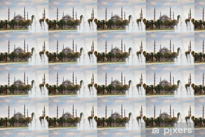 Tapeta na wymiar winylowa Błękitny Meczet w Stambule i fontanna - Bliski Wschód