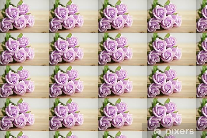 Papier peint vinyle sur mesure Roses roses - Fêtes internationales