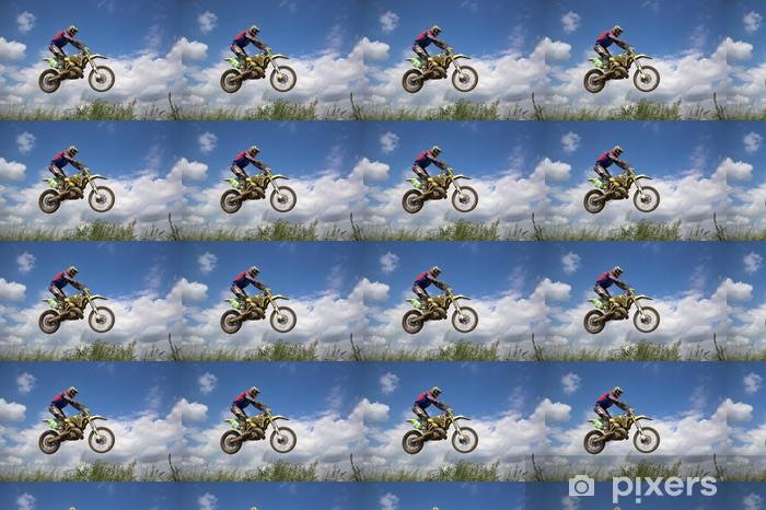Papier peint vinyle sur mesure Motocross rider - Sports extrêmes