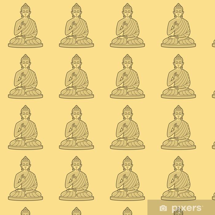 Papier peint vinyle sur mesure Bouddha médite - Thèmes