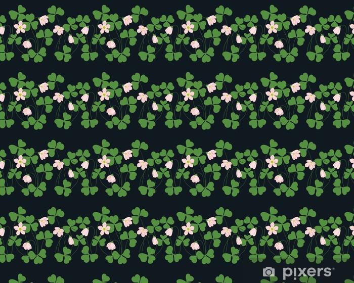 Oxalis pattern Vinyl custom-made wallpaper - Textures