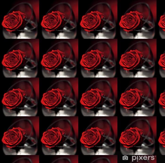 Papier peint vinyle sur mesure Fleur de Rose rouge - Fêtes internationales