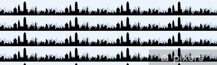 Carta da parati in vinile su misura Orizzonte Paesaggio urbano a Mattina - Urbano