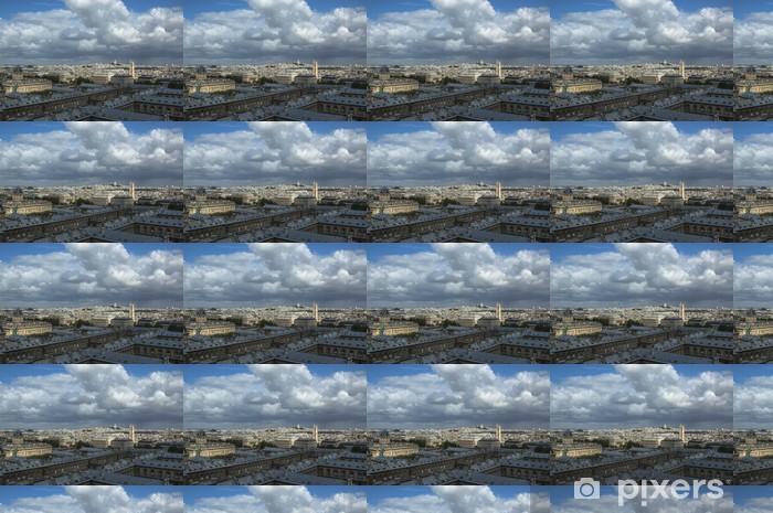 Papier peint vinyle sur mesure Skyline de Notre Dame de Paris lors d'une journée d'été - Europe
