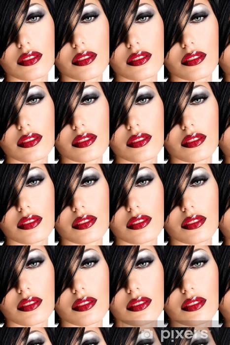 Tapete Schöne Frau Mit Sexy Roten Lippen Und Augen Make Up Pixers