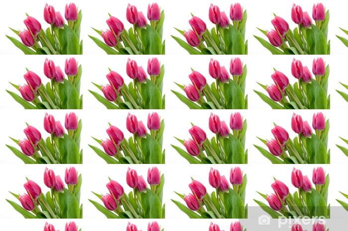 Vinylová tapeta na míru Růžový tulipán - Květiny