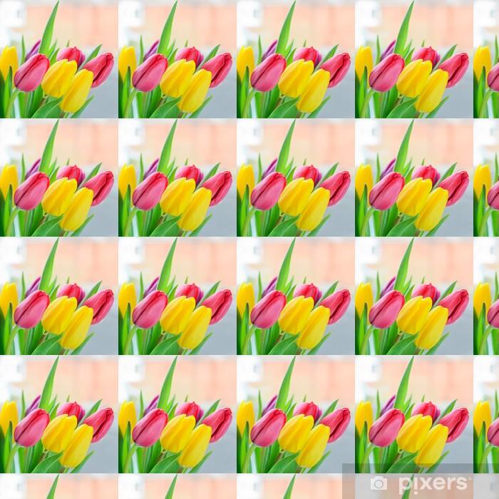 Tapeta na wymiar winylowa Multi kolorowe tulipany - Tematy