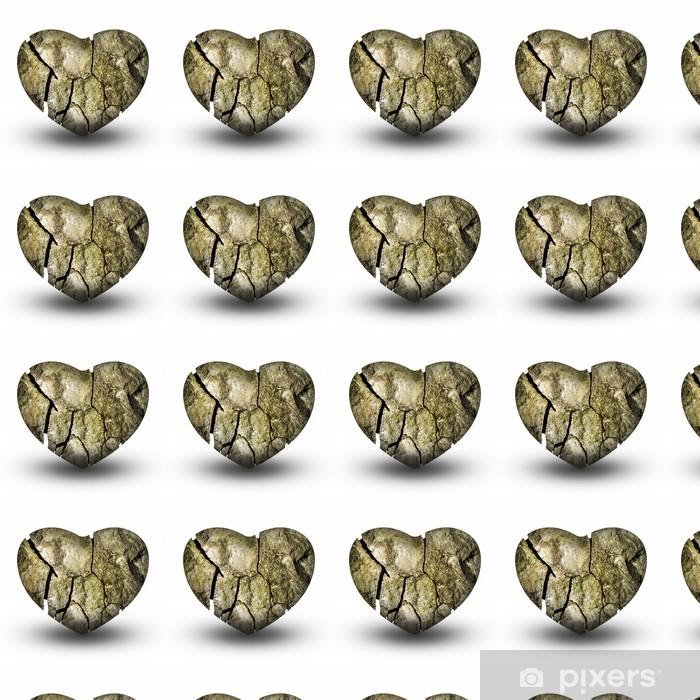 Tapeta na wymiar winylowa Pęknięty Kamień Serca (Złamane serce) - Szczęście