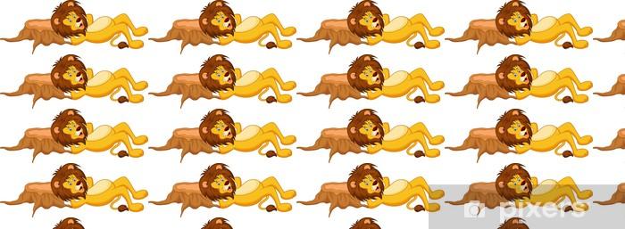 Tapeta na wymiar winylowa Lion cartoon śpi - Ssaki