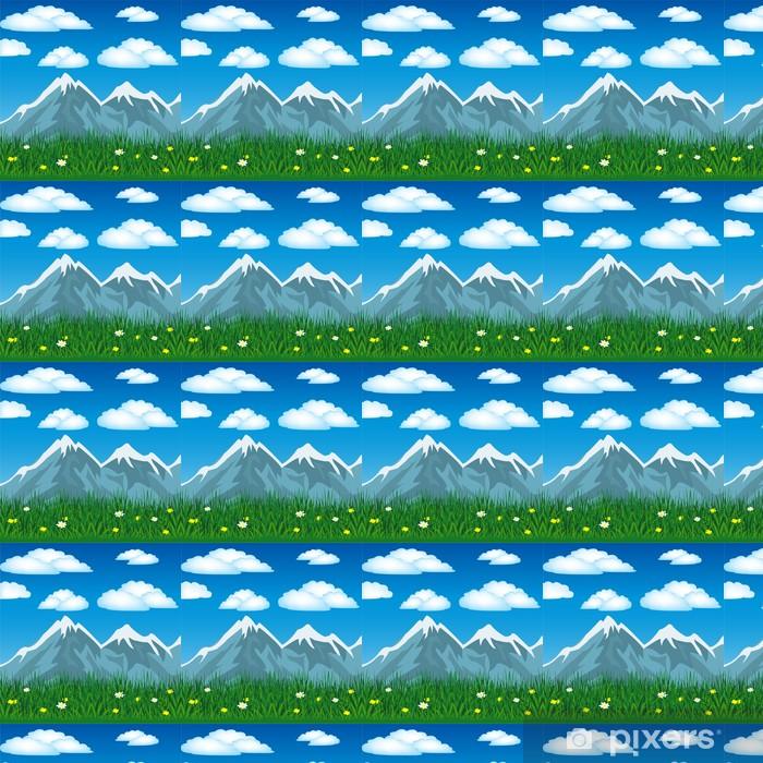 Papier peint vinyle sur mesure L'été en montagne - Saisons