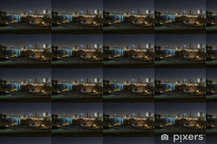 Papier peint vinyle sur mesure Tel aviv la nuit vue panoramique de Jaffa - Moyen Orient