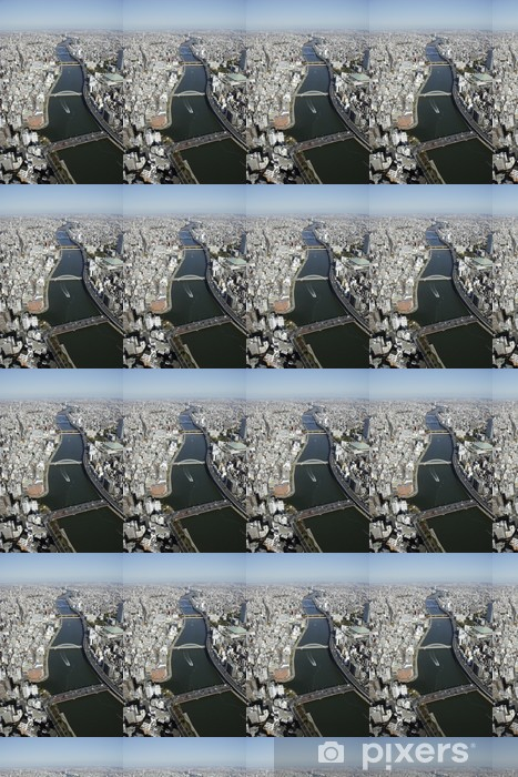 Papier peint vinyle sur mesure Vue aérienne des zones Sumida-ku - Autres