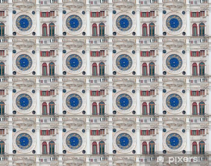 Vinyltapete nach Maß Sternzeichen Uhr Großansicht - Europäische Städte
