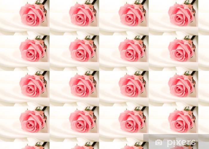 Papier peint vinyle sur mesure Belle fin rose - Bonheur