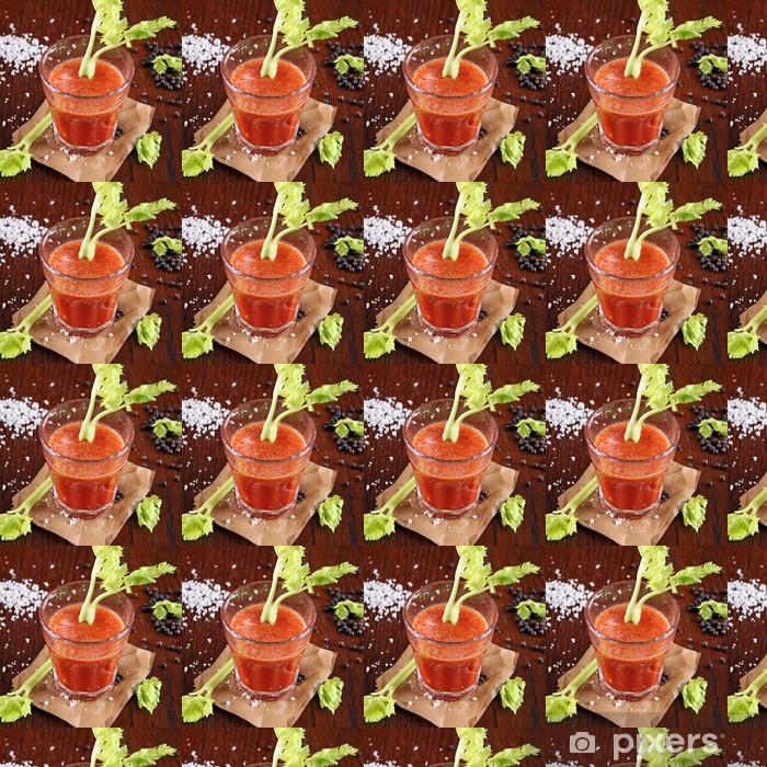 Måttanpassad vinyltapet Tomatjuice med selleri och salt och peppar - Teman