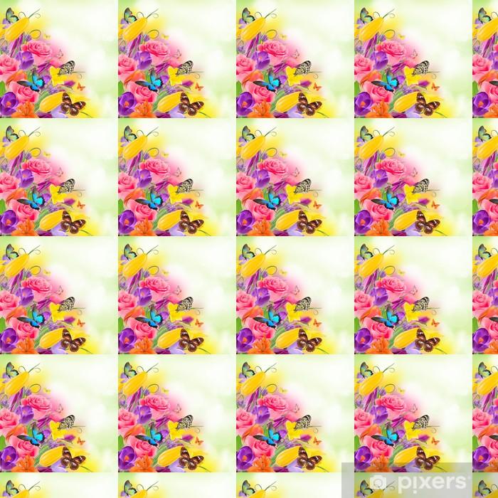 Papier peint vinyle sur mesure Beau bouquet de fleurs - Autres Autres