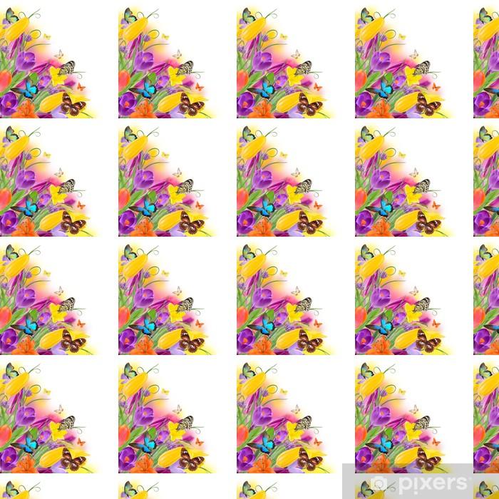 Carta da parati in vinile su misura Bella bouquet di fiori - Altri Altri