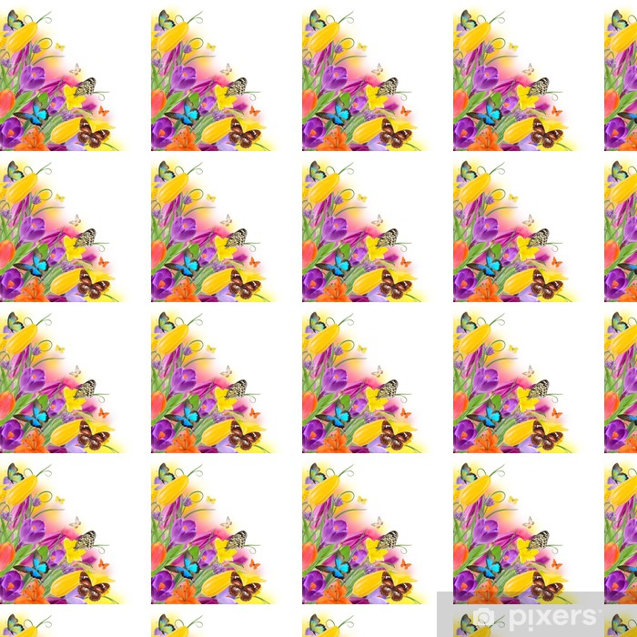 Beautiful bouquet of flowers. Vinyl custom-made wallpaper - Other Other