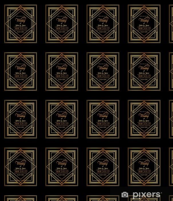 Häät kutsukortti - art deco & gatsby tyyli Räätälöity vinyylitapetti - Juhlinta