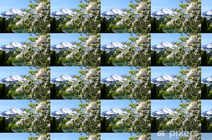 Papel pintado estándar a medida Primavera en Suiza - Montañas