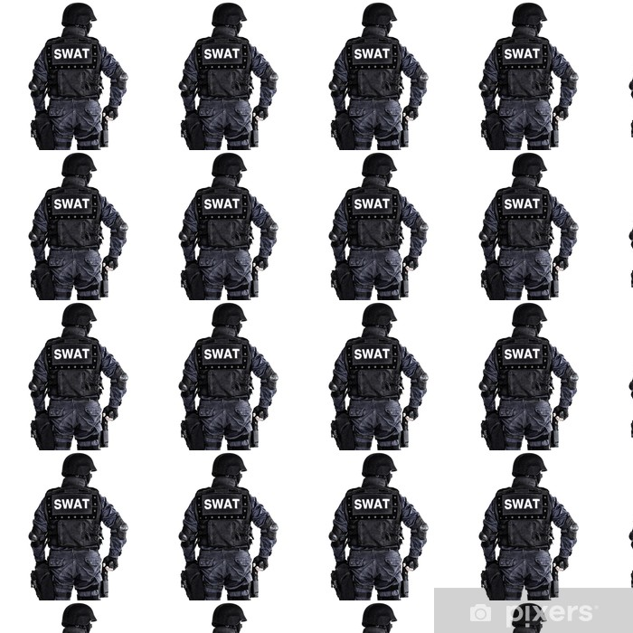Vinyltapete nach Maß SWAT Offizier - Leben