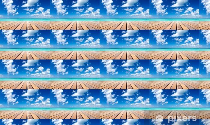 Papier peint vinyle sur mesure Tropical sea - Eau