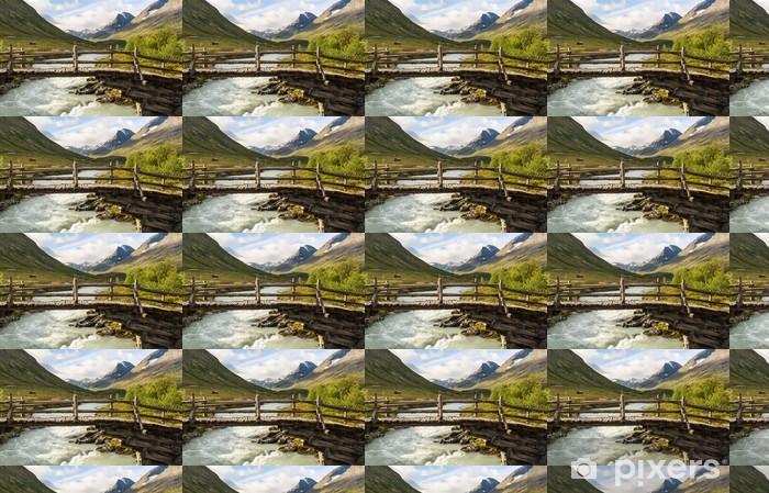 Tapeta winylowa Góry w Norwegii - Natura i dzicz