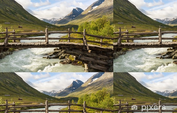 Mountains in Norway Vinyl Wallpaper - Nature and Wilderness