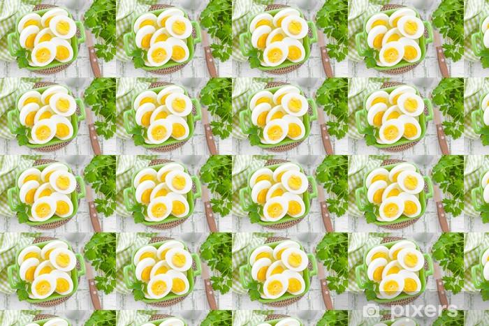 Boiled eggs Vinyl custom-made wallpaper - Eggs