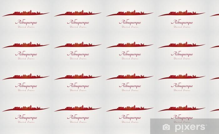 Papier peint vinyle sur mesure Albuquerque horizon en rouge - Amérique