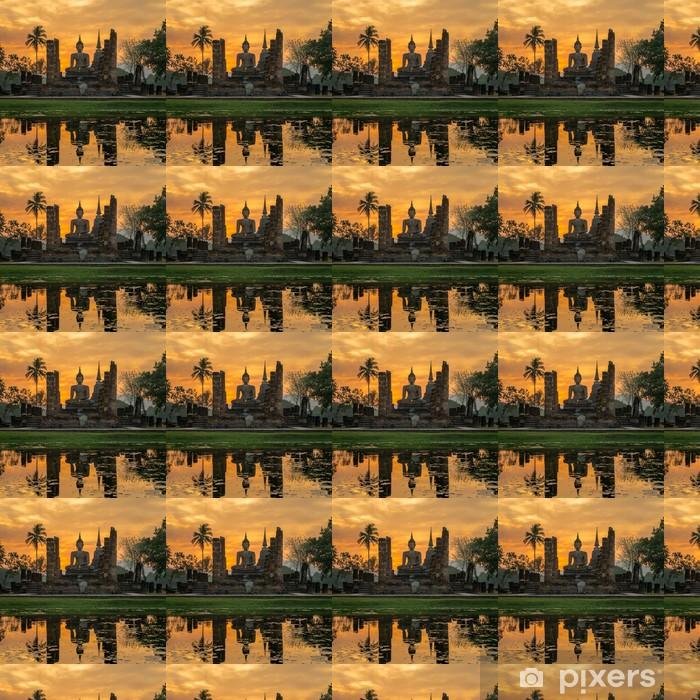 Vinylová tapeta na míru Socha Buddhy v chrámu Wat Mahathat chrámu, Sukhothai Historický park, - Styly