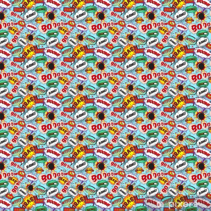 Carta da parati in vinile su misura Seamless pattern di discorso comico bolle - Risorse Grafiche