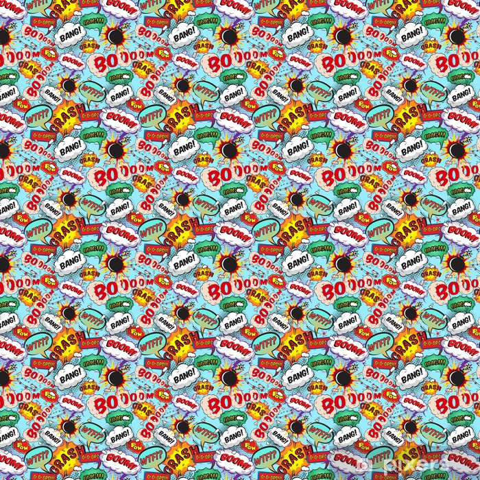Seamless pattern comic speech bubbles Vinyl custom-made wallpaper - Graphic Resources