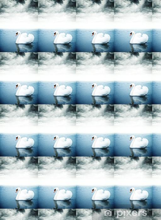 Tapeta na wymiar winylowa Łabędź unoszące się na wodzie - Ptaki