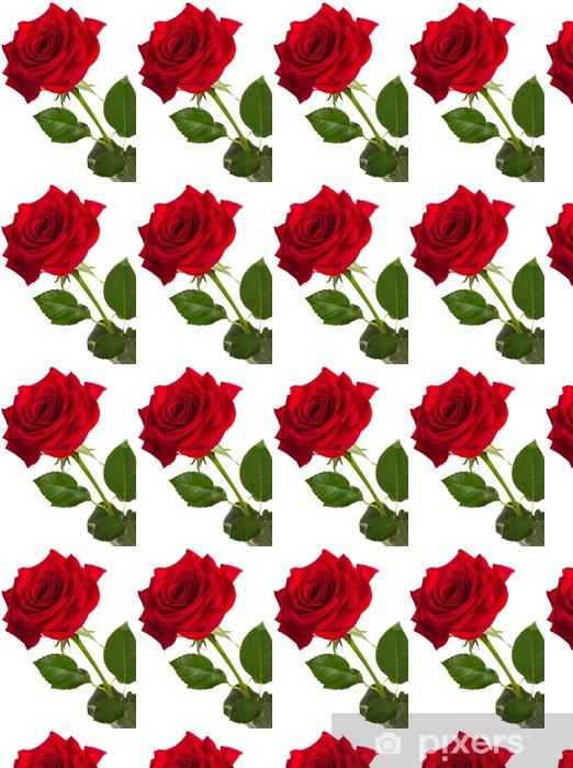 Papier peint vinyle sur mesure Red rose - Fleurs