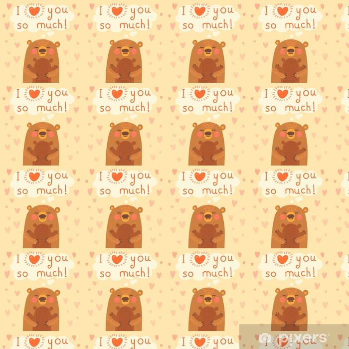 Papel de parede em vinil à sua medida Greeting card for the bear mother and cub. - Signos e Símbolos