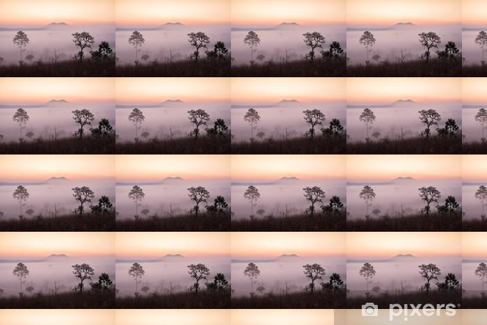 Tapeta na wymiar winylowa Sawanna z wschodem słońca i mgły - Tematy