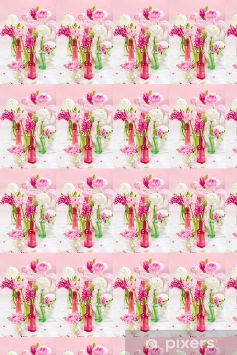 Papier peint vinyle sur mesure Fleurs printanières - Fleurs