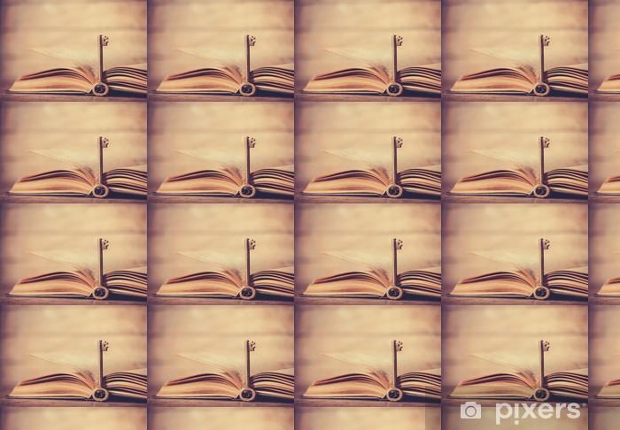 Vinyltapete nach Maß Retro-Taste und geöffneten Buch - Sonstige Gefühle