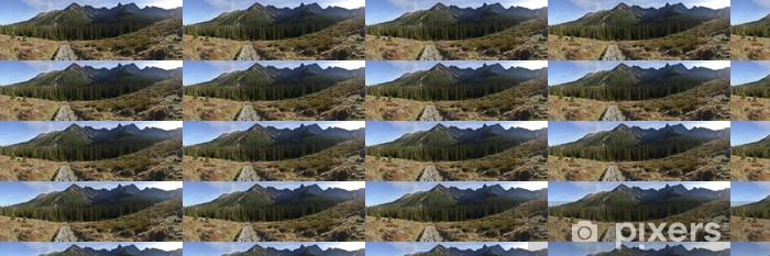 Papier peint vinyle sur mesure Panorama - gravir la montagne - Thèmes