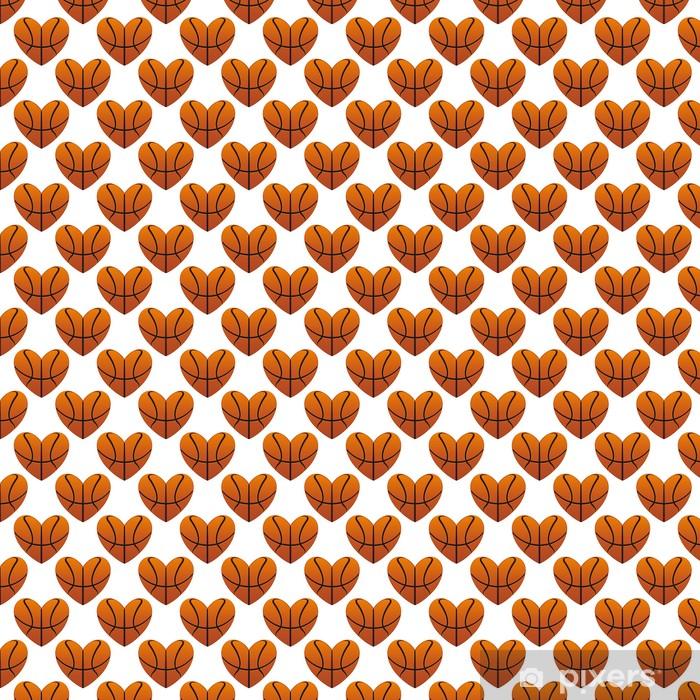 Tapeta na wymiar winylowa Koszykówka w serca bez szwu wzór - Tła