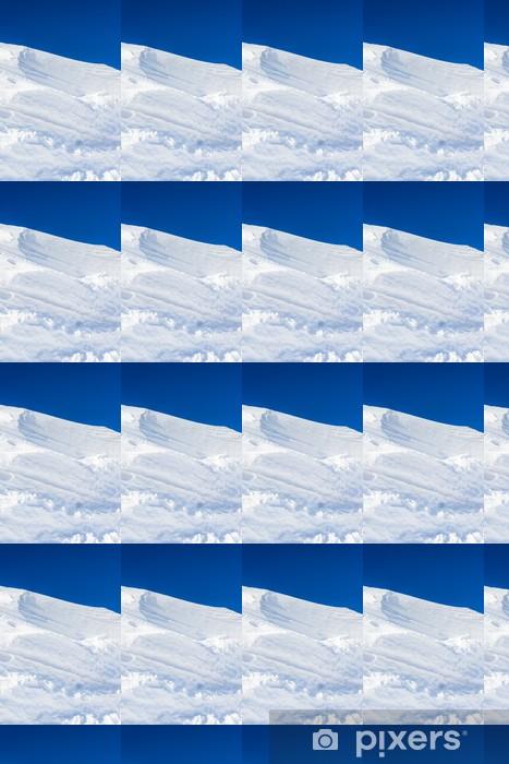 Papier peint vinyle sur mesure Grand monticule de neige de la neige blanche fait le vent pur - Campagne